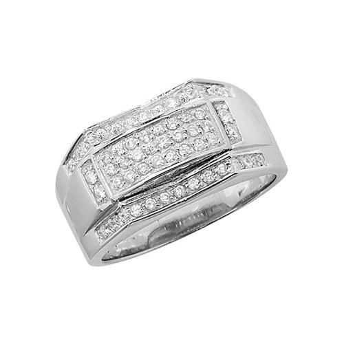 Cz mens ring Sterling silver Signet ring 925,Signet ring, Top Jewellery UK,Birmingham,Topjewelleryuk,10mm
