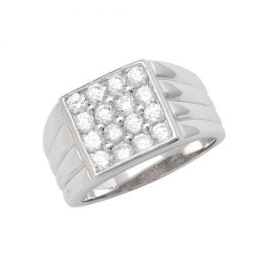 Cz mens ring Sterling silver Signet ring 925,Signet ring, Top Jewellery UK,Birmingham,Topjewelleryuk,13 mm