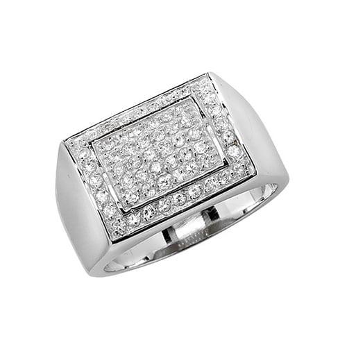 Cz mens ring Sterling silver Signet ring 925,Signet ring, Top Jewellery UK,Birmingham,Topjewelleryuk,13 mm