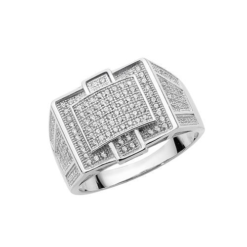 Cz mens ring Sterling silver Signet ring 925,Signet ring, Top Jewellery UK,Birmingham,Topjewelleryuk,15 mm