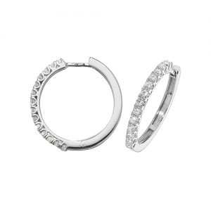 Diamond Hoop earrings 18ct white gold 0.70ct VSF Topjewellery UK,Top Jewellery Birmingham