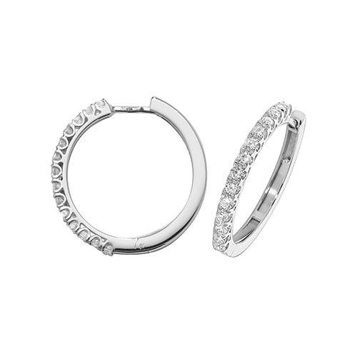 Diamond Hoop earrings 18ct white gold 0.70ct VSF Topjewellery UK,Top Jewellery Birmingham