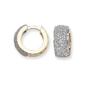 Diamond Hoop earrings 9ct yellow gold 0.76ct SI2,topjewelleryuk,top jewellery Birmingham