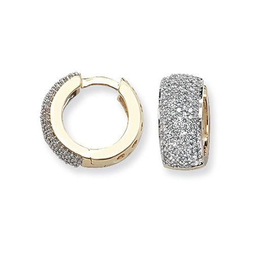 Diamond Hoop earrings 9ct yellow gold 0.76ct SI2,topjewelleryuk,top jewellery Birmingham