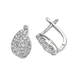 Diamond Pear shaped drop earrings 9ct white gold 0.50 ct SI2,topjewelleryuk,topjewellery birmingham