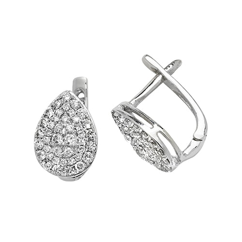 Diamond Pear shaped drop earrings 9ct white gold 0.50 ct SI2,topjewelleryuk,topjewellery birmingham