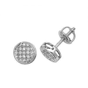 Diamond Round stud earrings 9ct white gold 0.09 ct SI,topjewelleryuk,topjewellery birmingham