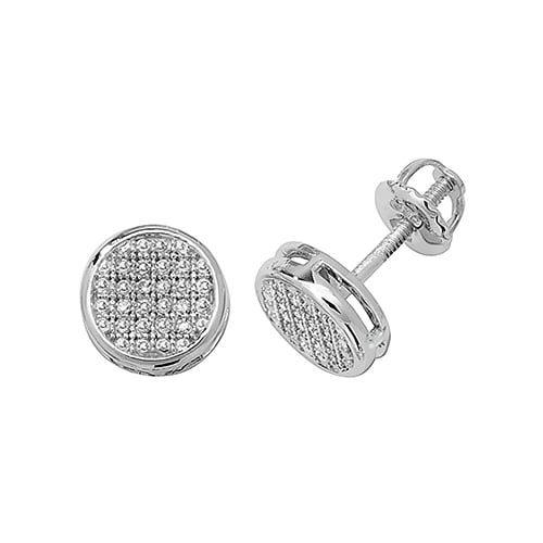 Diamond Round stud earrings 9ct white gold 0.12 ct SI,topjewelleryuk,topjewellery birmingham