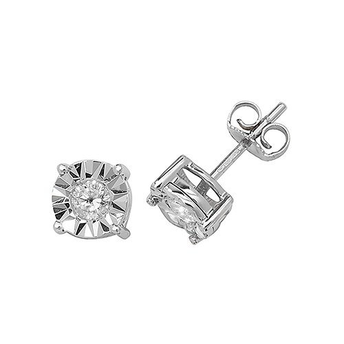 Diamond Round stud earrings 9ct white gold 0.31 ct SI,topjewelleryuk,topjewellery birmingham