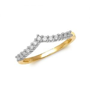 Diamond Wishbone prong set 9ct yellow gold 0.25 ct,H color, SI2,topjewelleryuk,topjewellery birmingham