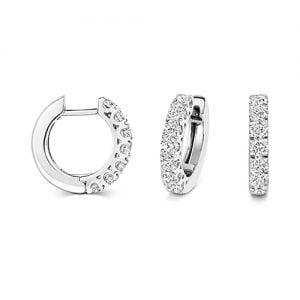 Diamond hoops earrings 18ct white gold 1.14 ct,G-H color, VS,SI,topjewelleryuk,topjewellery birmingham