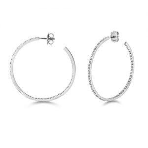 Diamond hoops earrings 18ct white gold 1.16 ct,G-H color, VS,SI,topjewelleryuk,topjewellery birmingham