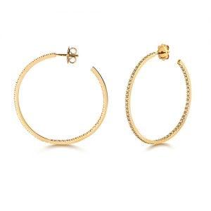 Diamond hoops earrings 18ct yellow gold 1.10 ct,G-H color, VS,SI,topjewelleryuk,topjewellery birmingham