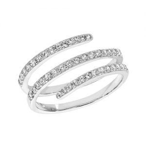 Fancy Ladies 3 Stripes Cz Patterned Sterling silver Signet ring 925,Signet ring, Top Jewellery UK,Birmingham,Topjewelleryuk