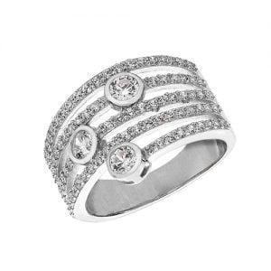 Fancy Ladies Cz Patterned Sterling silver Signet ring 925,Signet ring, Top Jewellery UK,Birmingham,Topjewelleryuk