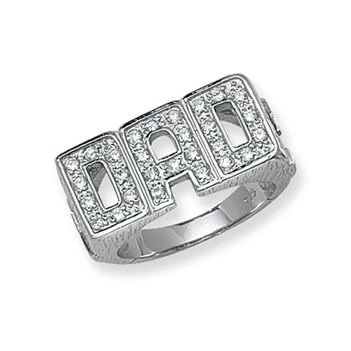 Large Cz DAD Patterned Sterling silver Signet ring 925,Signet ring, Top Jewellery UK,Birmingham,Topjewelleryuk