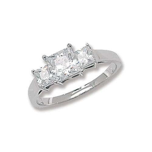 Princess Cut Ladies 3 Trilogi Cz Patterned Sterling silver Signet ring 925,Signet ring, Top Jewellery UK,Birmingham,Topjewelleryuk