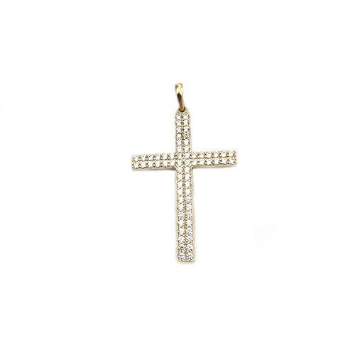 CZ-Cross-diamond-earrings-14ct-white-goldangel-yellow-gold-58514ktopjewelleryuk.1
