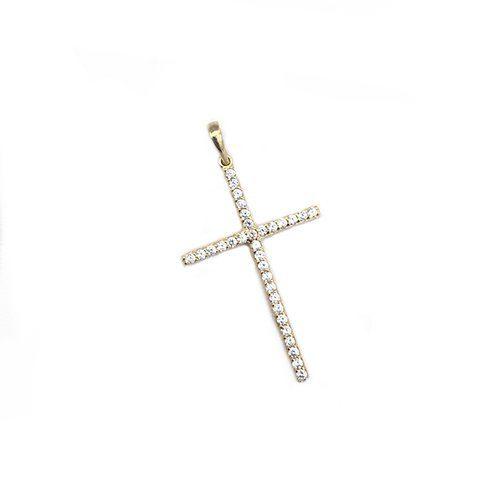 CZ-Cross-diamond-earrings-18ct-white-goldangel-yellow-gold-58514ktopjewelleryuk.2