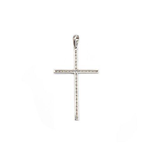 CZ-Cross-diamond-earrings-18ct-white-goldangel-yellow-gold-58514ktopjewelleryuk.4