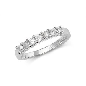 Diamond 7 stone prong set 9ct white gold 0.50 ct,H color, SI2,topjewelleryuk,topjewellery birmingham