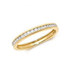 Diamond chanel set 18k, 9ct yellow gold 0.25 ct,F-G color, VS1,topjewelleryuk,topjewellery birmingham