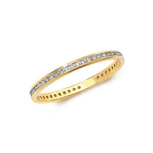 Diamond chanel set 18k, 9ct yellow gold 0.27 ct,F-G color, VS1,topjewelleryuk,topjewellery birmingham