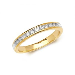 Diamond chanel set 18k, 9ct yellow gold 0.33 ct,F-G color, VS1,topjewelleryuk,topjewellery birmingham