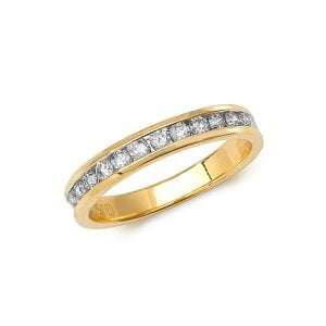Diamond chanel set 18k, 9ct, yellow gold 0.50 ct,F-G color, VS1,topjewelleryuk,topjewellery birmingham