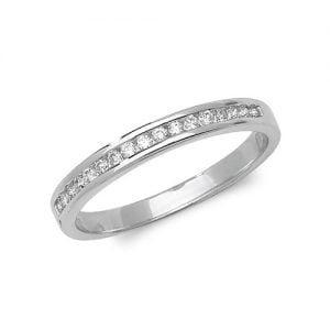 Diamond chanel set 9ct white gold 0.15 ct,H color, SI2,topjewelleryuk,topjewellery birmingham
