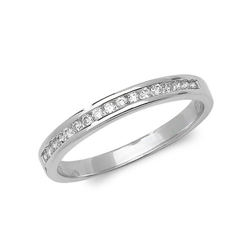 Diamond chanel set 9ct white gold 0.15 ct,H color, SI2,topjewelleryuk,topjewellery birmingham