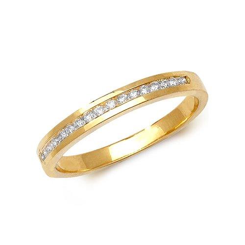 Diamond chanel set 9ct yellow gold 0.15 ct,H color, SI2,topjewelleryuk,topjewellery birmingham