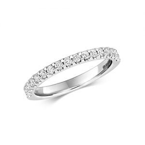Diamond eternity stone prong set 18ct,9ct White gold 0.26 ct,H color, SI2,topjewelleryuk,topjewellery birmingham