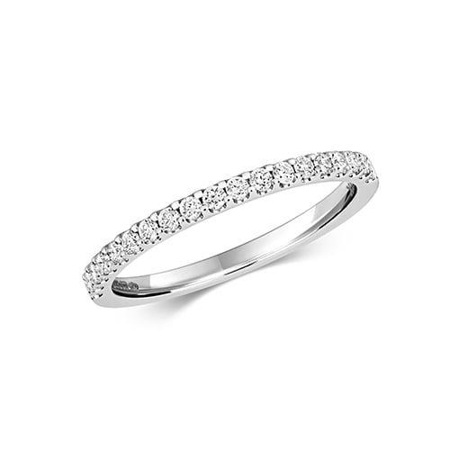 Diamond eternity stone prong set 18ct,9ct White gold 0.32 ct,H color, SI2,topjewelleryuk,topjewellery birmingham
