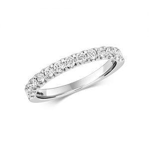 Diamond eternity stone prong set 18ct,9ct White gold 0.50 ct,H color, SI2,topjewelleryuk,topjewellery birmingham