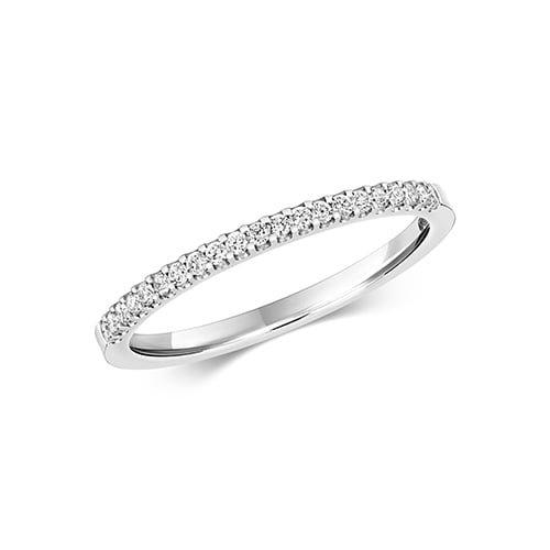Diamond eternity stone prong set 9ct White gold 0.16 ct,H color, SI2,topjewelleryuk,topjewellery birmingham