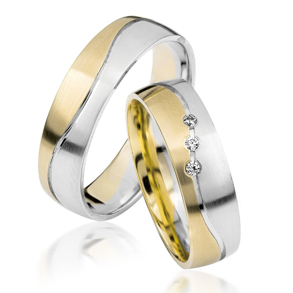 5 5 Mm Two Toned Wedding Band Tjeb91600 Top Jewellery