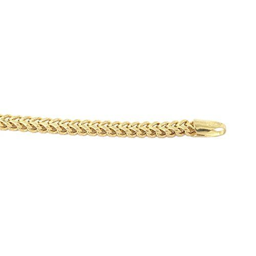gold franco grams bracelet yellow ct diamond mens