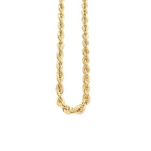 Rope Gold Chain in Yellow & White gold 14ct,topjewelleryuk,topjewellery birmingham.5q