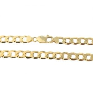 Curb 7.25 mm Chain in 9k yellow gold, Top Jewellery uk, Topjewellery,Birmingham,9k,18k,585,375,750.3